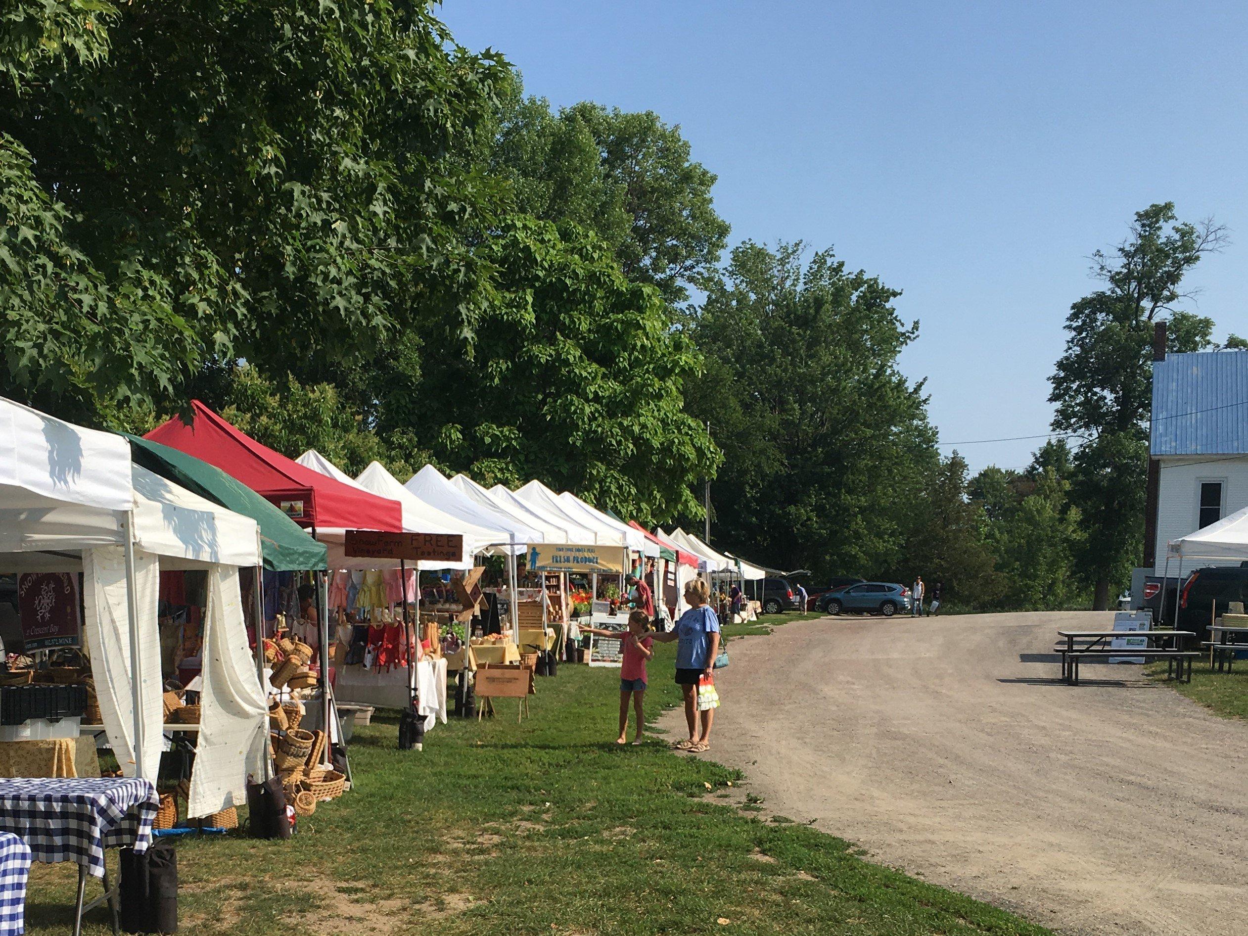 Champlain Islands Farmers Market tents